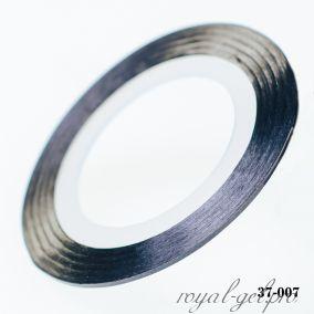 Клейкая лента для дизайна ногтей черная толщина 1 мм. 20 м.