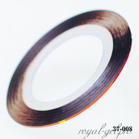 Клейкая лента для дизайна ногтей лазерная красная толщина 1 мм. 20 м.