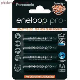 Аккумулятор PANASONIC Eneloop Pro AA 2500 4BP (BK-3HCCE/4BE)
