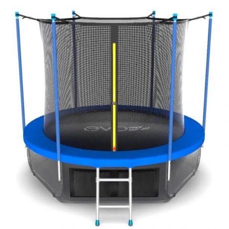 Батут с внутренней сеткой и лестницей Evo Jump Internal 6ft Sky