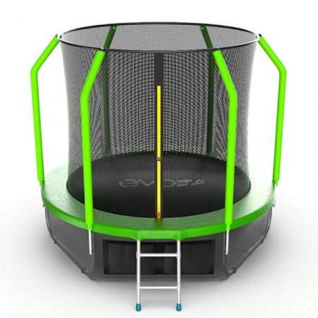 Батут с верхней и нижней сеткой Evo Jump Cosmo 8ft Lower net Green