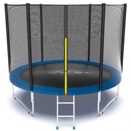 Батут с внешней сеткой и лестницей Evo Jump External 10ft Blue