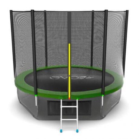 Батут с лестницей и защитной сеткой Evo Jump External 10ft Lower net Green