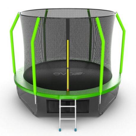 Батут с внутренней и нижней сетью Evo Jump Cosmo 10ft Lower net Green