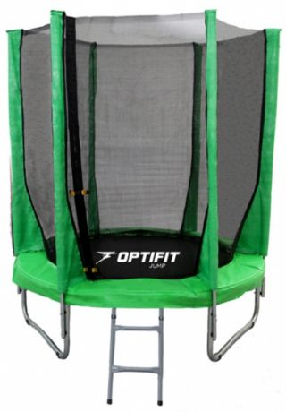 Батут с сеткой Optifit JUMP 6ft 1,83 м зеленый