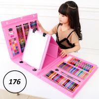 Набор для рисования со складным мольбертом в чемоданчике, 176 предметов, Цвет Розовый_1