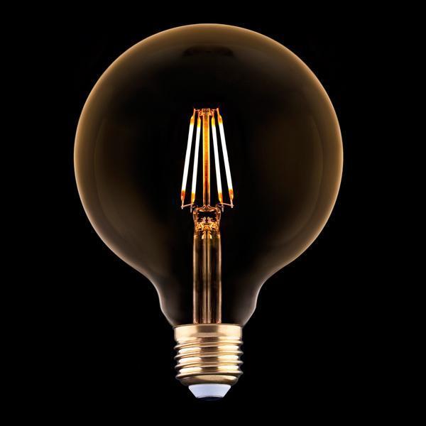 Лампа светодиодная филаментная E27 4W 2200K прозрачная 9797