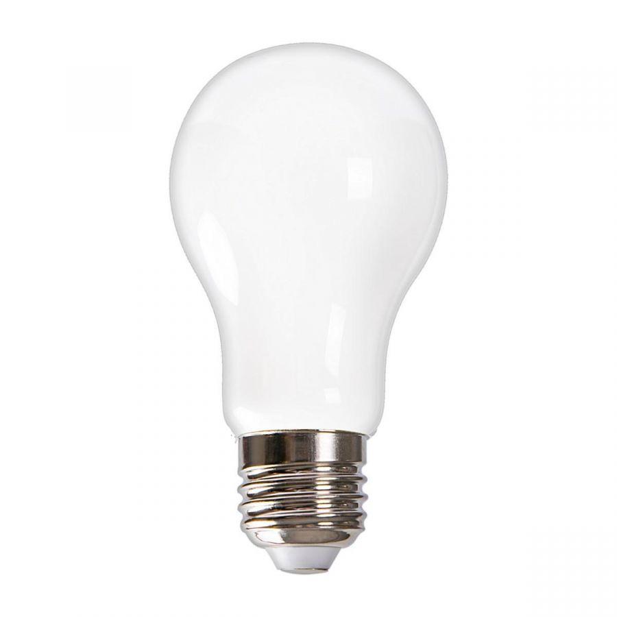 Лампа светодиодная (UL-00004842) E27 9W 4000K матовая LED-A60-9W/4000K/E27/FR GLH01WH