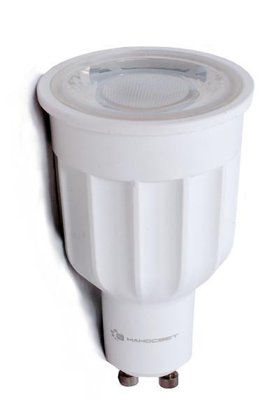 Лампа светодиодная Наносвет GU10 10W 2700K прозрачная LE-MR16A-10/GU10/927 L270