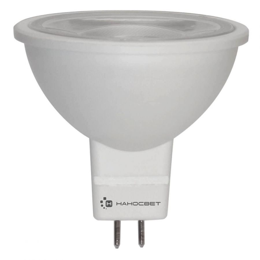 Лампа светодиодная Наносвет GU5.3 5W 4000K прозрачная LH-MR16-5/GU5.3/940 L277