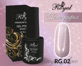 """Royal гель лак """"Голография"""" 10 мл RG02"""