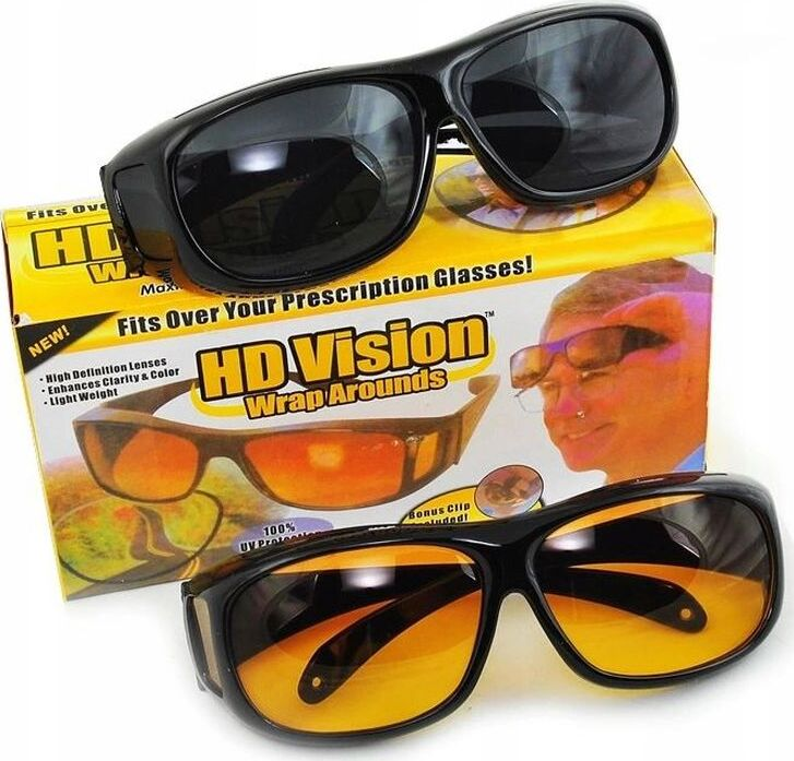 Антибликовые очки HD VISION Wrap Arounds 2 шт