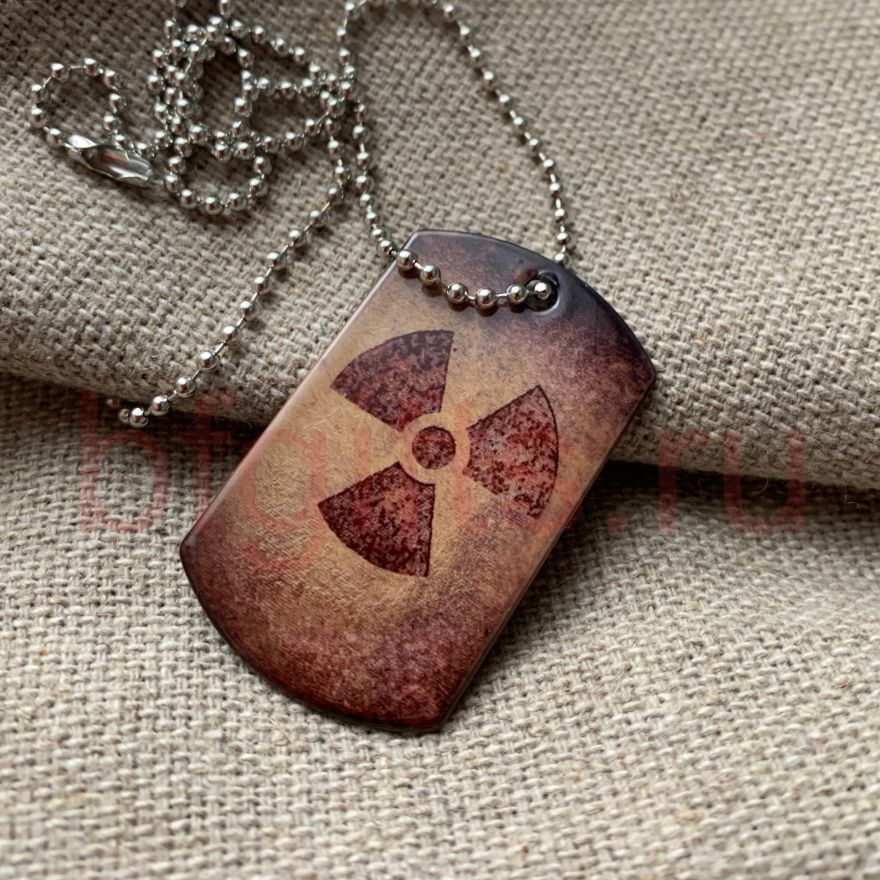 Жетон знак радиации