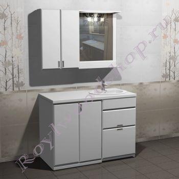 """Тумба для ванной под стиральную машину """"Глосси-С 120 бюджет"""