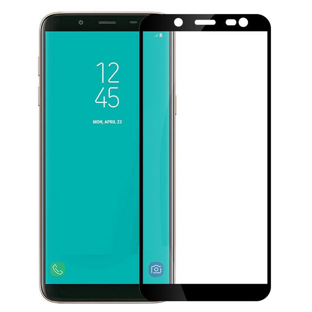 Защитное стекло на Samsung J8 (2018) с рамкой(черное)