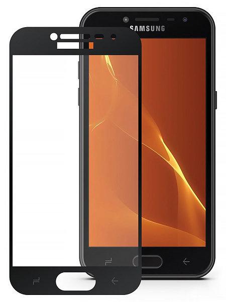 Защитное стекло на Samsung J4 (2018) с рамкой(черное)