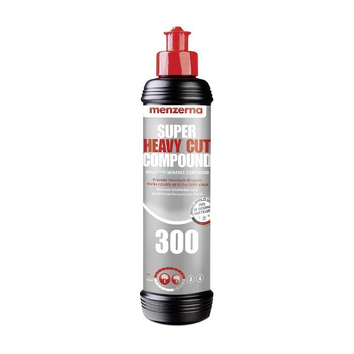 Menzerna Super Heavy Cut Compound 300 Универсальная высокоабразивная полировальная паста, 250мл.