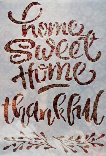 Трафарет для творчества, Home sweet home, 26*18 см