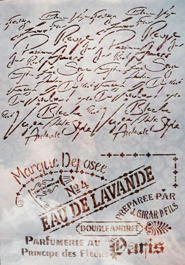 Трафарет для творчества, Eau de lavande, 29*21 см