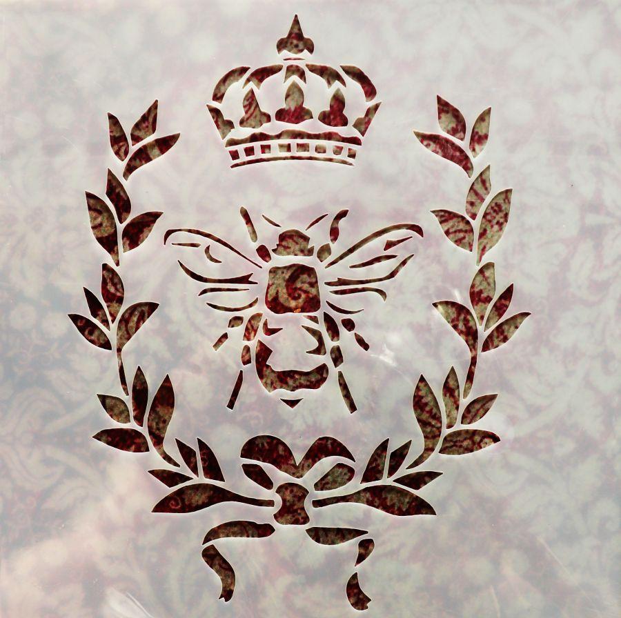 Трафарет для творчества, пчелка с короной, 13*13 см
