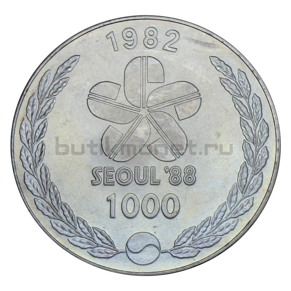 1000 вон 1982 Южная Корея Танцоры (XXIV летние Олимпийские Игры, Сеул 1988)