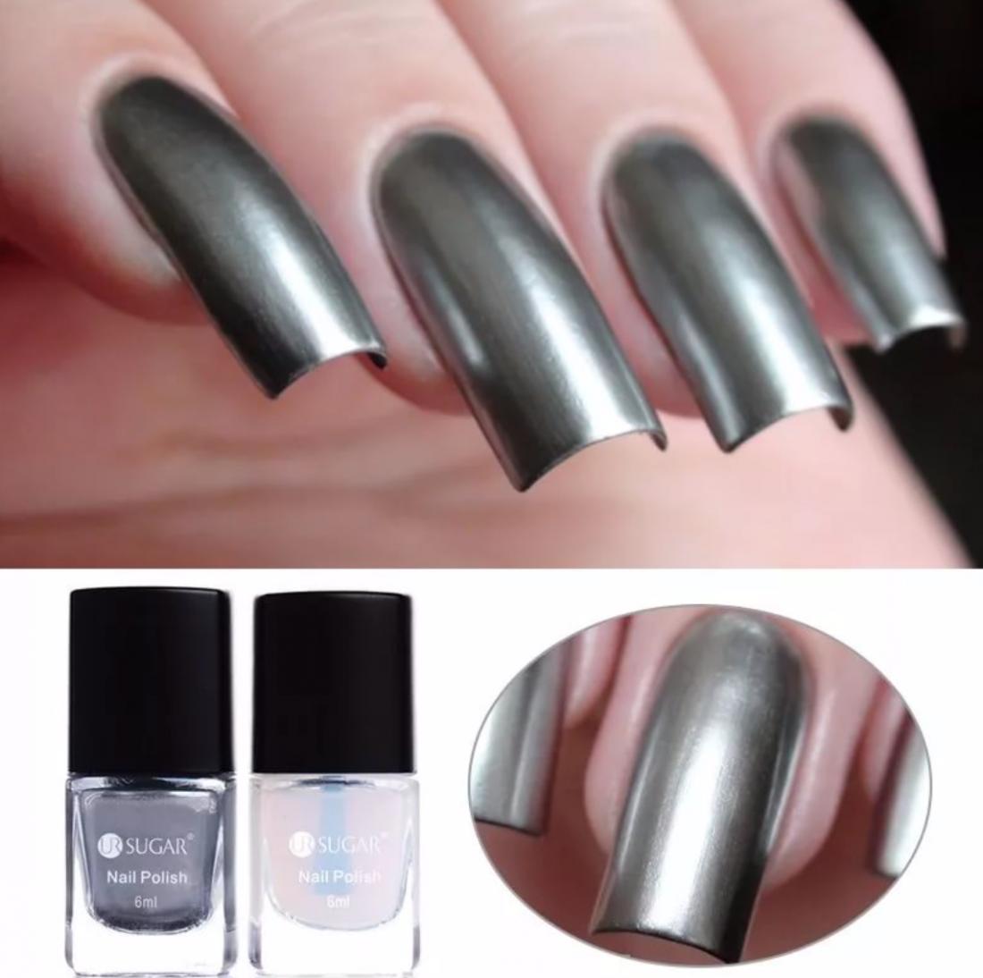 серебро лак для ногтей (база)