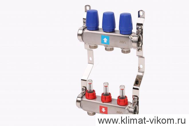 Коллектор MVI с расходомерами на 3 выходов