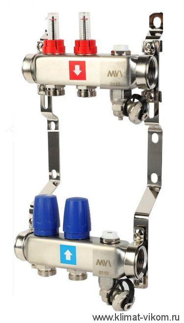 Коллектор MVI с расходомерами на 2 выходов