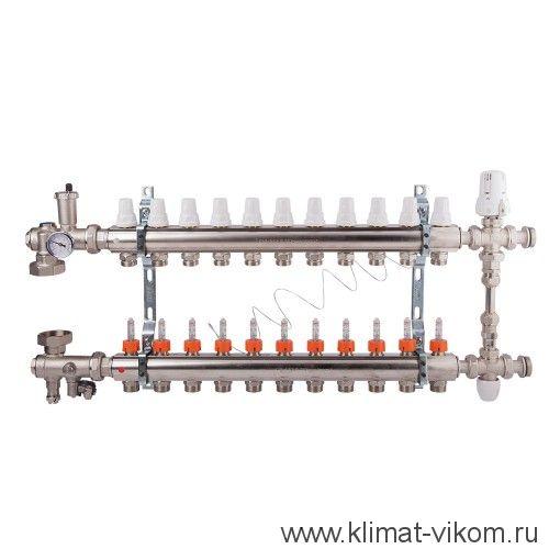 """Коллектор с расходомерами и смесительным узлом ICMA  1""""/3/4"""" (12)"""