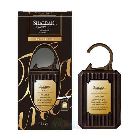ST Освежитель воздуха «SHALDAN» для шкафов с одеждой «Бархатный мускус» (корпус + вкладыш с гелем), 30 г