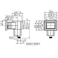 Скиммер Aquaviva EM0130-SV Standart под лайнер с латунными вставками