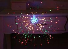 Интерьерный светильник ночник Фейерверк цветной