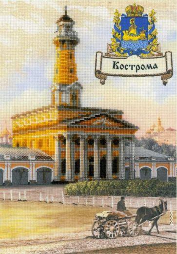 Набор для вышивания крестом Города России. Кострома РТ 0056 фирма Риолис