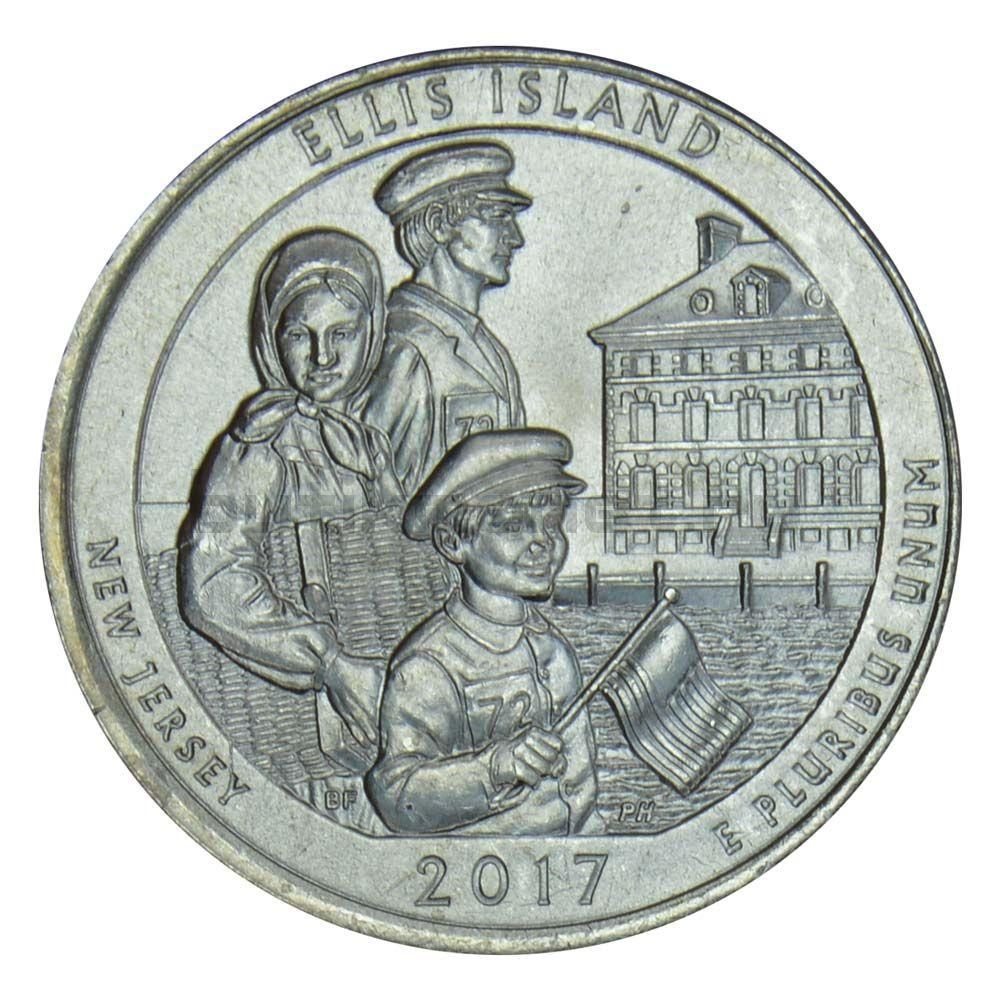 25 центов 2017 США Национальный монумент острова Эллис P