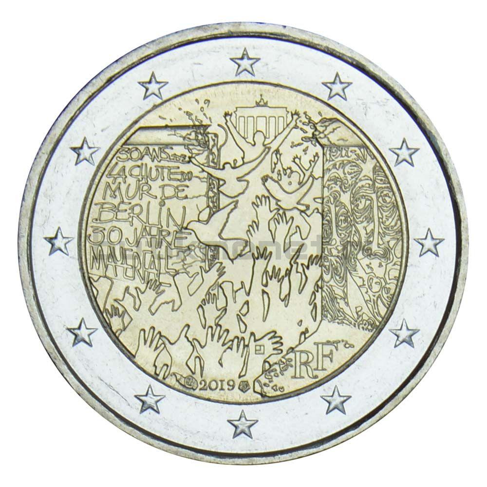 2 евро 2019 Франция Падение Берлинской стены