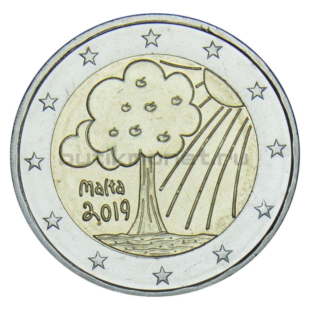 2 евро 2019 Мальта Природа и окружающая среда
