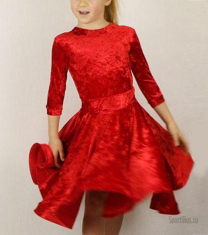 """Платье для танцев красное """"Анна"""""""