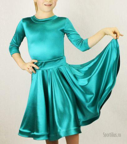 """Платье для танцев изумрудное """"Анна"""""""
