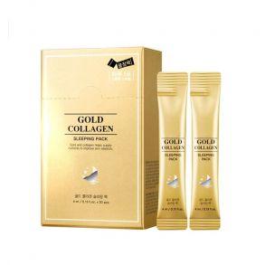Ночная маска на основе золота и коллагена SNP Gold Collagen Sleeping Pack, 1 шт