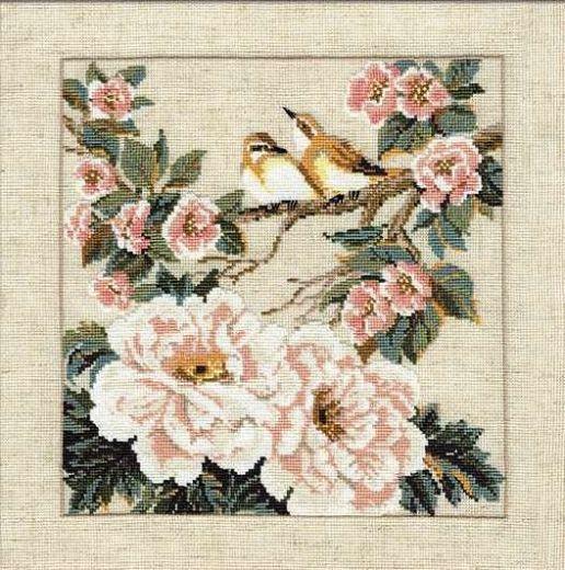 Набор для вышивания крестом Китайские мотивы. Весна №486 фирма Риолис