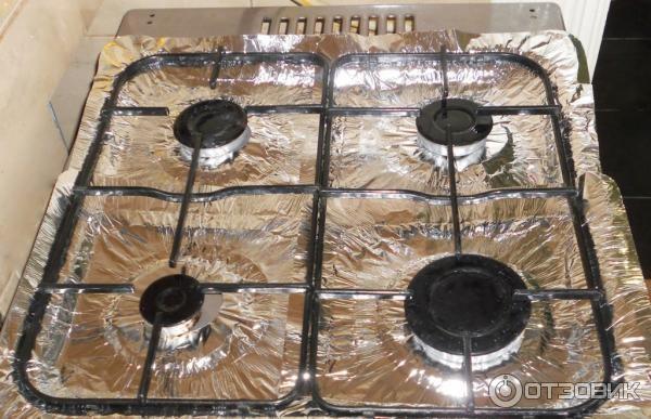Защитное покрытие из фольги для газовых плит - 4 шт.