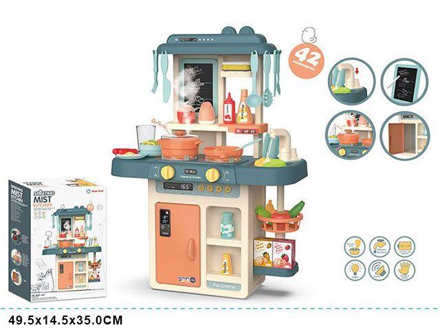 889-167 Кухня игровая детская Home Kitchen с водой, паром, светом и звуком