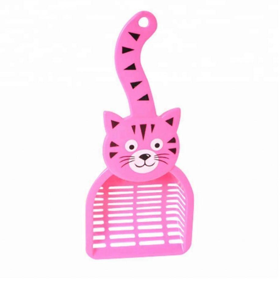 Совок для уборки кошачьего туалета (лотка), 28х12.5 см, цвет Розовый