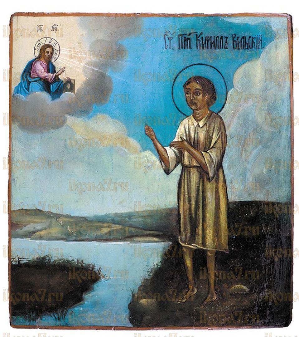 Икона Кирилл Вельский праведный