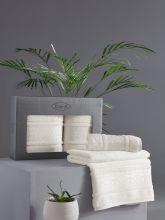 Комплект из 2-х бамбуковых полотенец ARMOND 50*90+70*140 (кремовый) Арт.3451-6