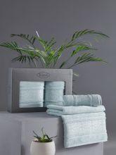 Комплект из 2-х бамбуковых полотенец ARMOND 50*90+70*140 (ментол) Арт.3451-7