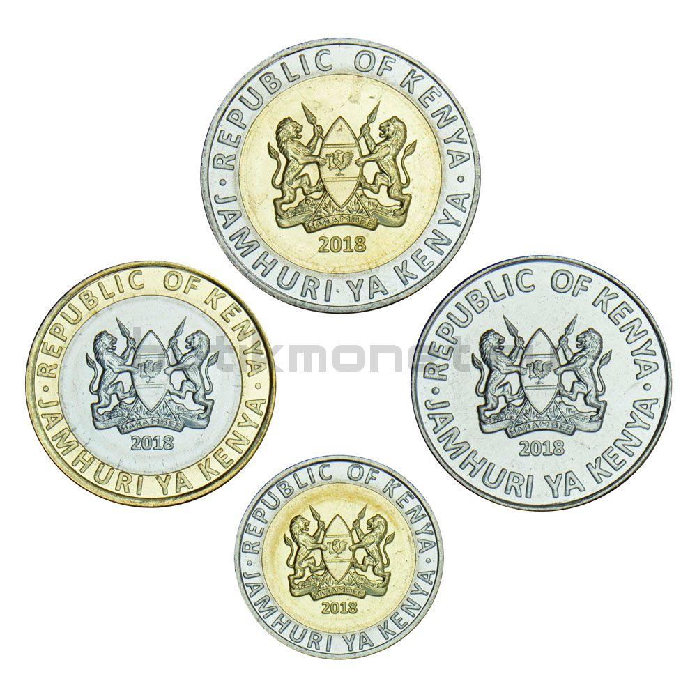 Набор монет 2018 Кения Животные (4 штуки)