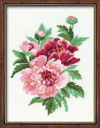 Набор для вышивания крестом Пионы №815 фирма Риолис
