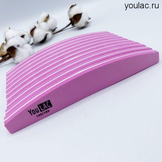 Упаковка бафов 10 шт pink , 100/180