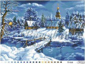 ТП018 Барвиста Вышиванка. Сказочная Зима. А2 (набор 4125 рублей)